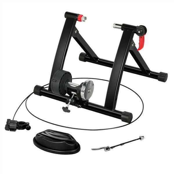 Magnetic Resistance Bike Trainer Stand w 6 Speed Level Handlebar Adjuster Indoor $73.99