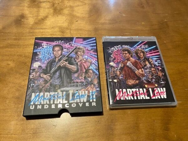 Martial Law 1 amp; 2 Blu ray*Vinegar Syndrome*Rare Slipcover*2 Disc*OOP*Rare*NEW* $70.00