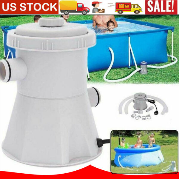 Electric Filter Pump Set For Swimming Pool Water Above Ground Pool 110V 300GAL $54.99