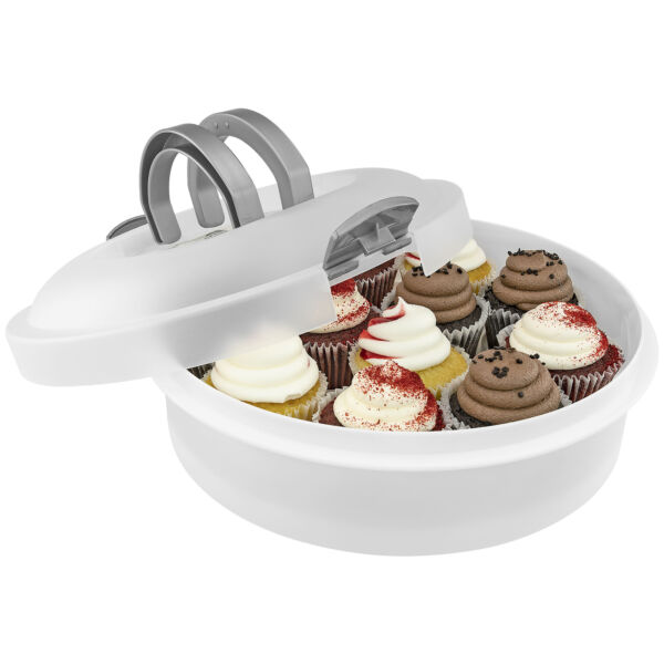 Cake Carrier 3 Sizes in 1 Round Plastic Holder for Cakes Pies Dessert Keeper $16.99