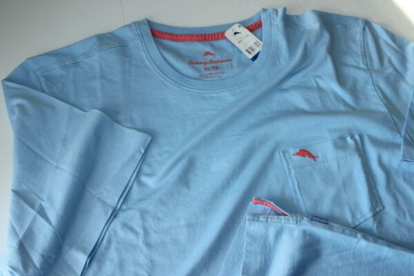 Tommy Bahama Tee Shirt Bali Skyline Crew Neck Sky Blue New Large L $29.95