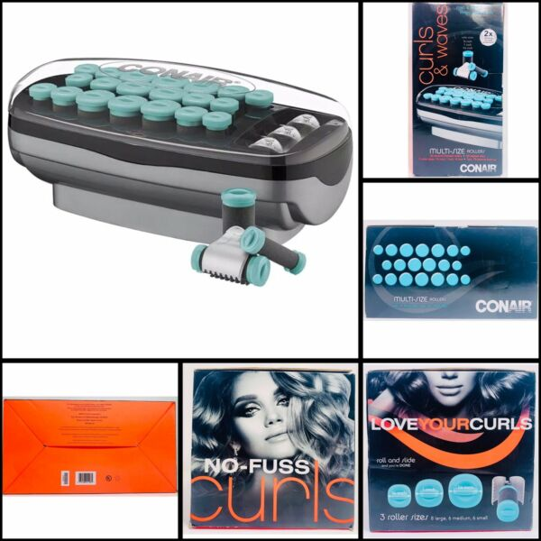 Conair Xtreme Instant Heat 20 Ceramic Flocked Rollers 20 Heated Clips No Fuss $27.16