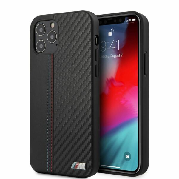 BMW Hard Case PU Leather Carbon Effect M Collection iPhone 12 iPhone 12 Pro $27.99