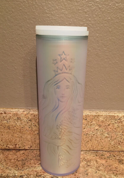 NEW Starbucks 50th Anniversary Edition Frosted Cloud Mermaid Siren Cold Cup 16oz
