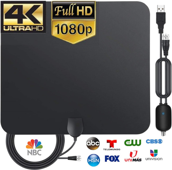3600 Miles TV Antenna Newest Indoor HDTV Amplified Digital TV Antenna 4K 1080P