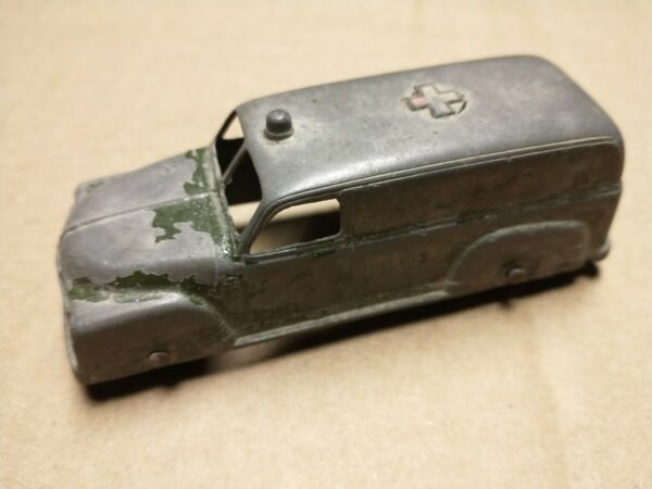 Antique Tootsietoy Army Ambulance Vintage 4quot; Long Metal Toy Car Used