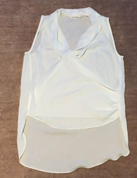Miss Selfridge white wrap slouch front top size 8 GBP 3.50