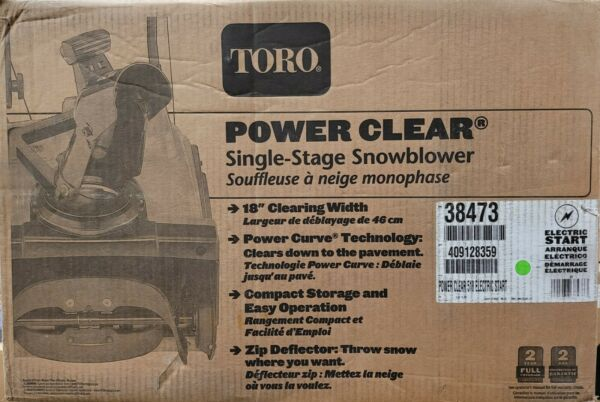 Toro Power Clear 518 ZE 18 in. Single Stage Gas Snow Blower