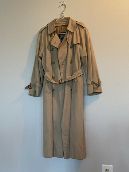 Burberry Trench Coat Made In London For Harrods Women's Petite 12 With Liner $225.00