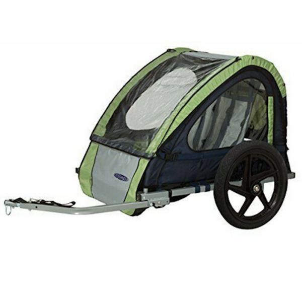 InSTEP 2 Seater Double Bike Trailer Green Grey New In Box $119.99