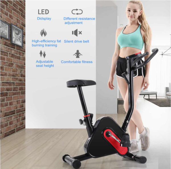 2021 Aerobic Indoor Exercise Bike Cycling Trainer Cardio Fitness Workout Machine $99.56