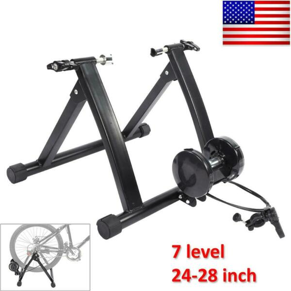 Bike Trainer Stand Magnetic Bicycle Stationary Stand 7 Lever Tire 24quot;–28quot; $83.76