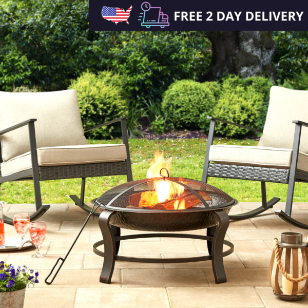 Outdoor Wood Burning Fire Pit Bowl Heater Stove Patio Backyard Fireplace 28quot;