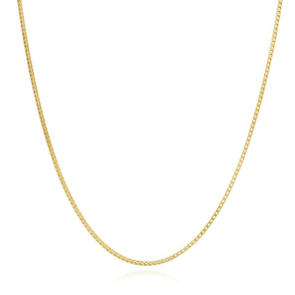 Solid 14K Yellow Gold Over Silver 1.2mm Franco Link Chain Necklace 16quot; 30quot; $35.00