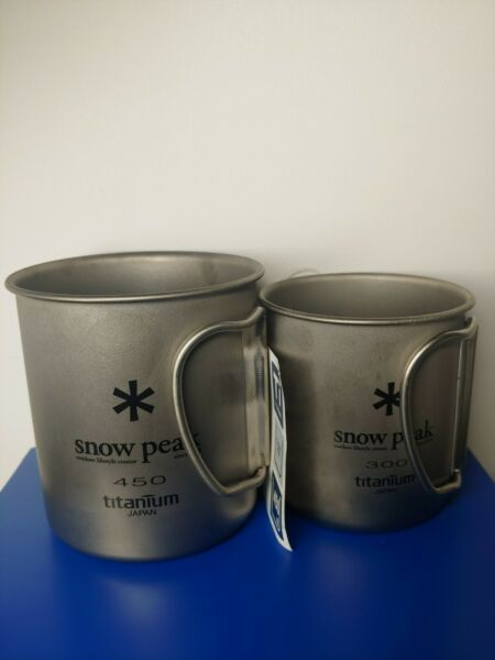 SET OF 2 Snow Peak TITANIUM Single Wall 450 300 Mug