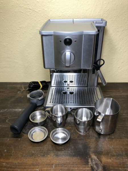 Breville Cafe Roma Espresso Maker Stainless Coffee Esp8XL