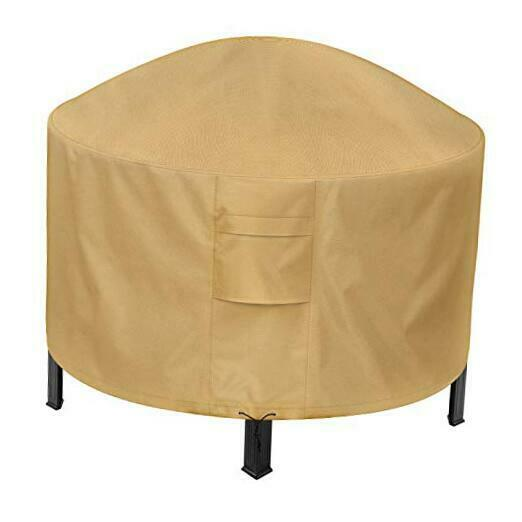 Round Fire Pit Cover 50 Inch Patio Outdoor Firepit Table Cover Round 50 inch