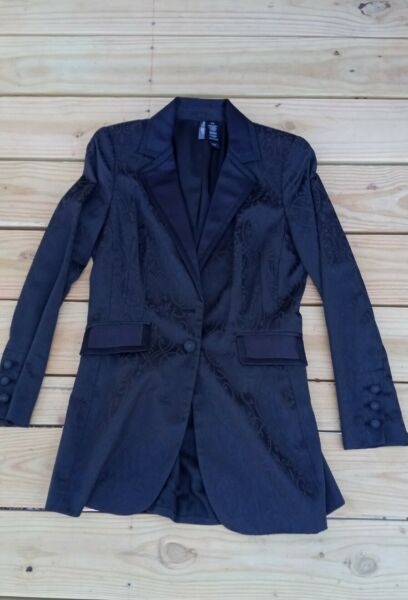Women#x27;s Bisou Bisou by Michele Bohbot Long Black Blazer Size M