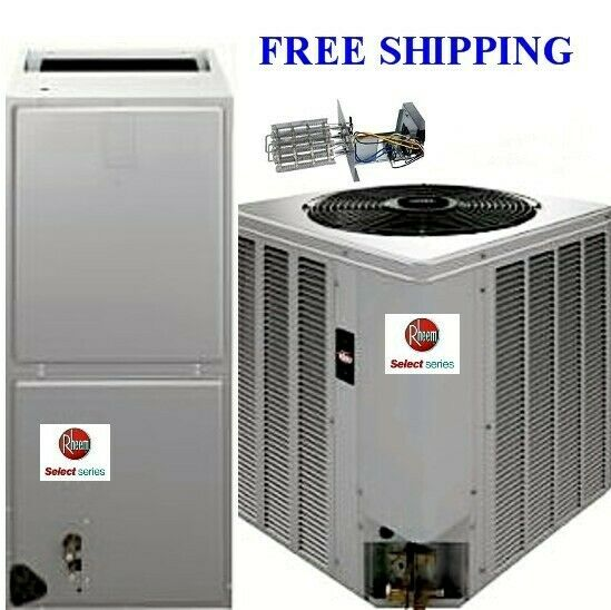 2.5 Ton 14SEER Rheem Select Heat Pump System Condenser amp; Air Handler amp; Heat Kit $2380.00