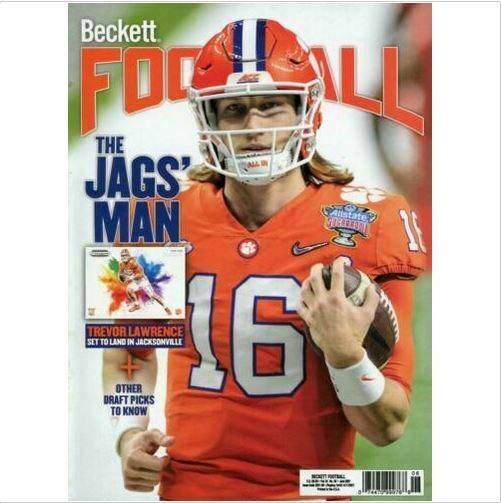 New June 2021 Beckett Football Card Price Guide Magazine With Trevor Lawrence