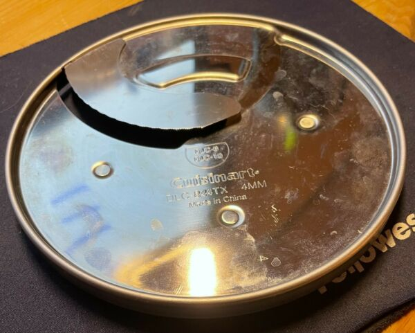 Used Cuisinart DLC 844TX 4mm slicing blade for Cuisinart food processors