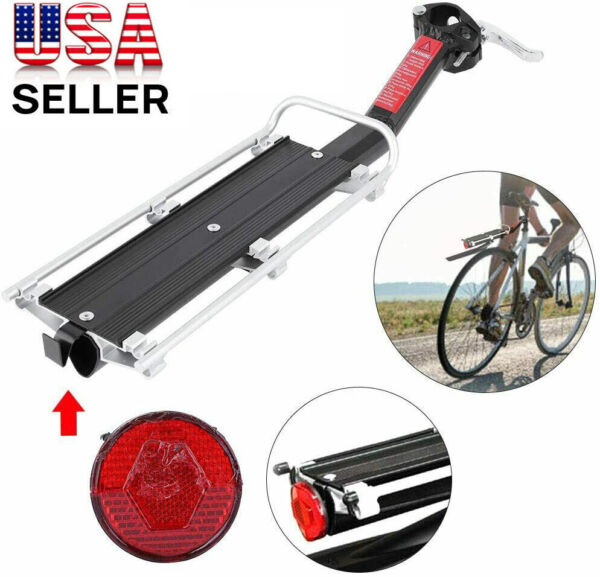 Bicycle Mountain Bike Rear Racks Seat Post Mount Luggage Carrier Aluminum Alloy $23.73