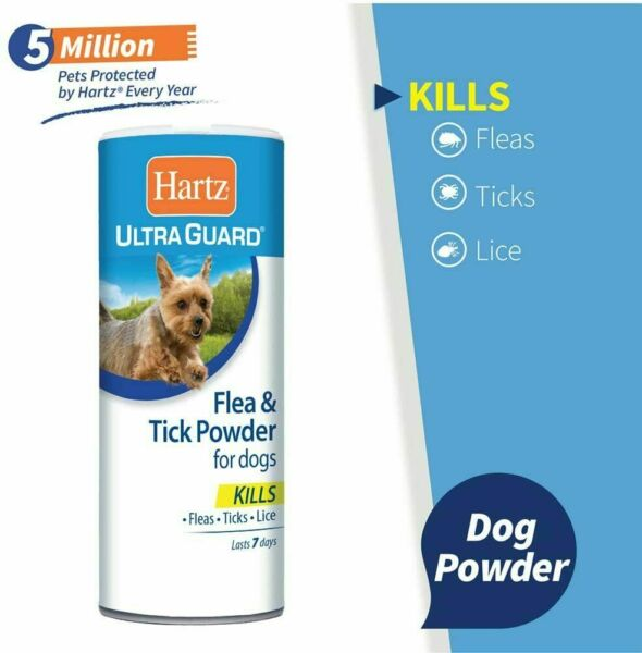 Hartz Ultra Guard Flea amp; Tick Powder Dogs Fast Acting Water resistant Powder 4oz $7.75