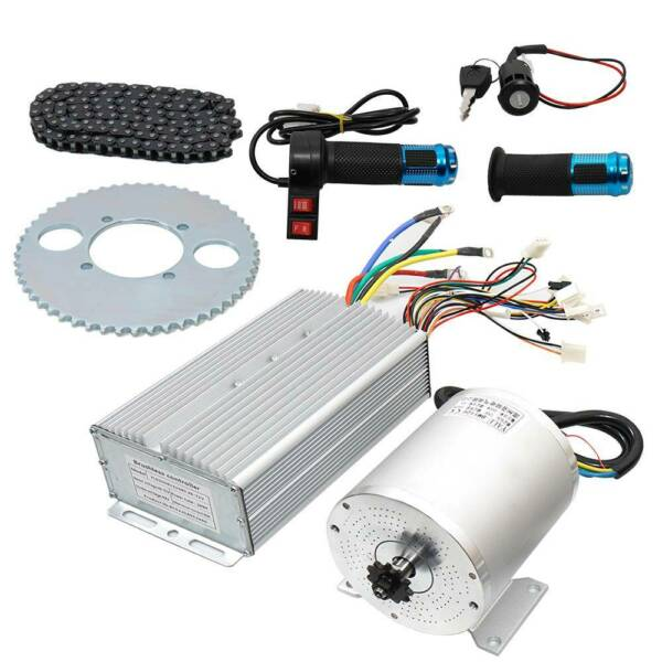 Electric Brushless DC Motor Kit 72V 3000W High Speed Motor Controller Scooters $238.90