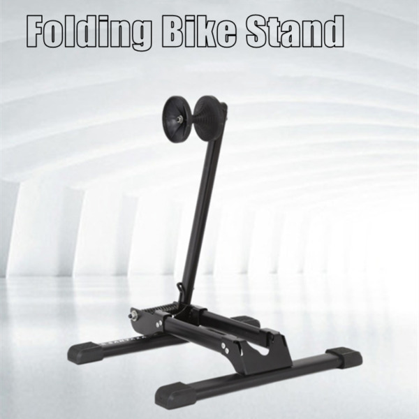Foldable Alloy Bicycle Stand Bike Floor Parking Rack Steady Wheel Holder Sports $29.55