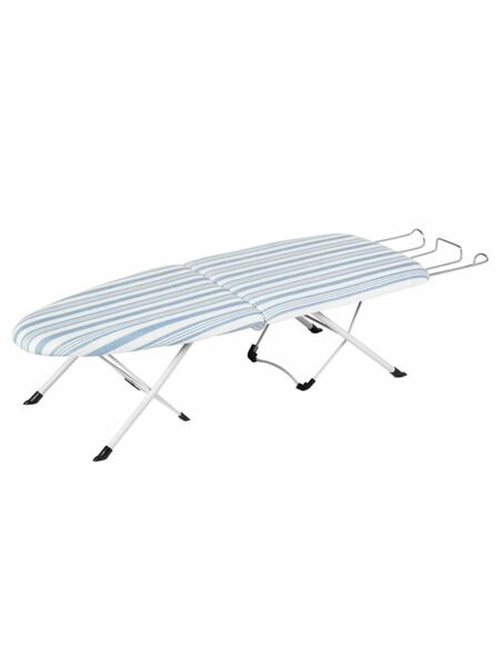 Honey Can Do Portable Folding Tabletop Ironing Board White Blue $15.58