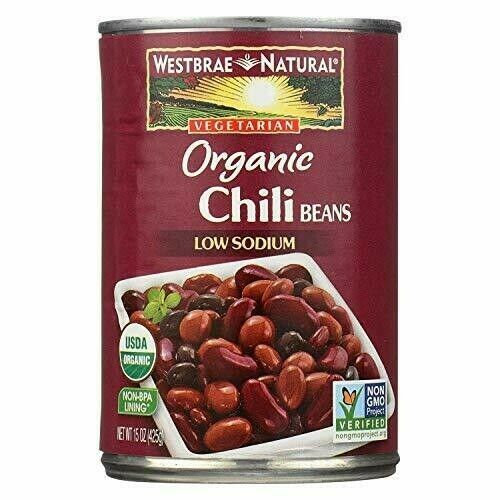 Westbrae Foods Organic Beans; Fat Free Chili Pack of 12 Size 15 OZ Quan...