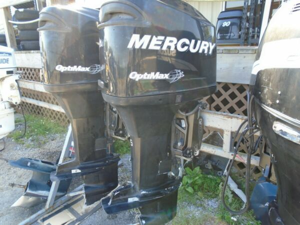 Used 2007 150 HP OPTIMAX 25quot; MERCURY 2 STROKE OUTBOARD BOAT MOTOR 125 PSI $6495.95