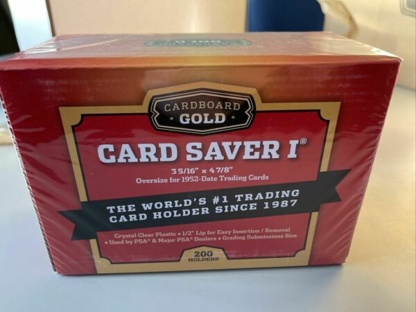 BRAND NEW Cardboard Gold PSA Graded Card Saver 1 Box 200 Count IN HAND