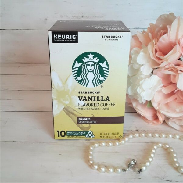 Starbucks K Cups 10 CT Vanilla Flavored NEW SEALED Exp 11 2021