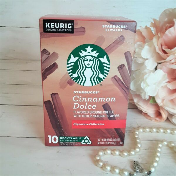 Starbucks K Cups 10 CT Cinnamon Dolce Flavored NEW SEALED Exp 11 2021