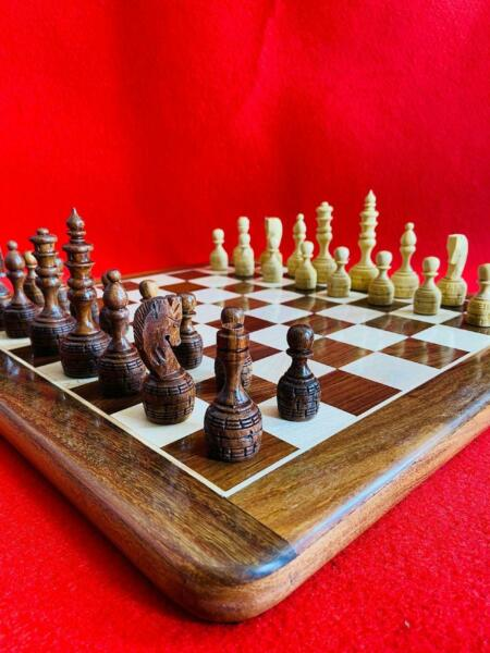 Wood Non Magnetic Premium Handcrafted 16quot;X16quot; Inche Best Professional Flat Chess $125.99