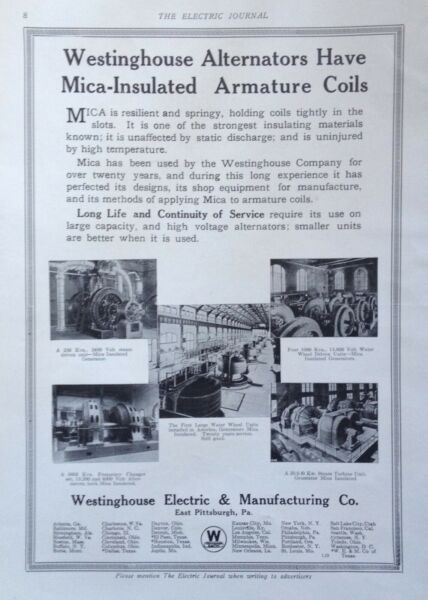1915 AD J29 WESTINGHOUSE ELECTRIC amp; MFG. CO. MICA INSULATED ARMATURE COILS $7.49