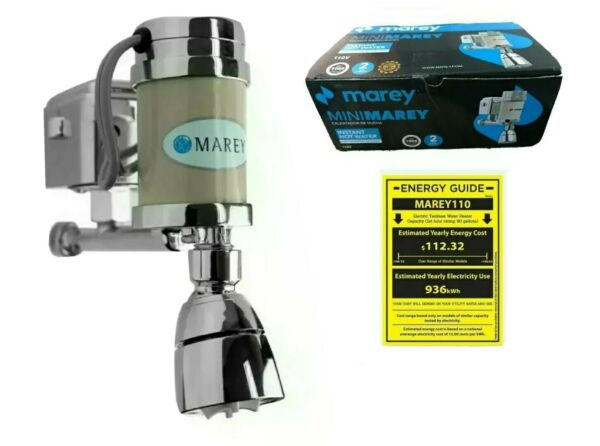 MAREY TANKLESS ENERGY SAVER MINI SHOWER INSTANT WATER HEATER 110V 2.6KW $121.99