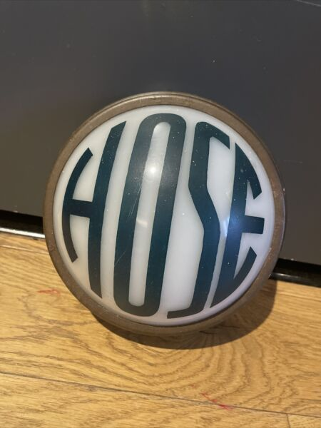 vintage hose light sign Original Art Deco Globe Plastic Fire Gas Station Cover