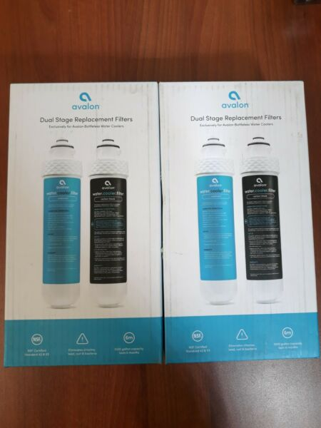 2x 2 Stage Replacement Filters for Avalon Bottleless Water Coolers NSF Certified