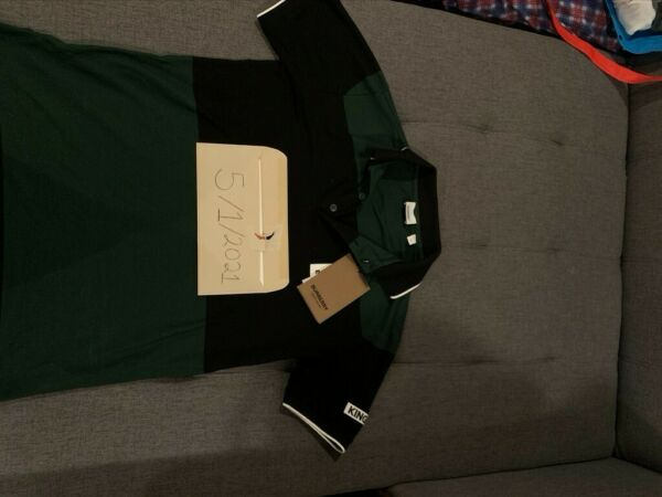 Burberry Green and Black Men#x27;s Polo Shirt Size XS BRAND NEW WITH TAGS $280.00