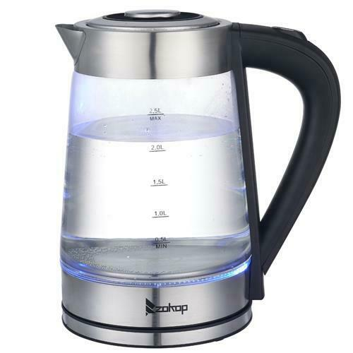 NEW Electric Water Kettle 2.5 Liter with LED Indicator Light Glass Tea Water $24.84
