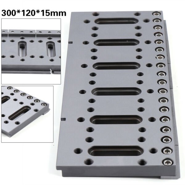 M8 Wire EDM Fixture Tool Jig Tool For Clamping amp; Leveling Stainless 300*120*15 m
