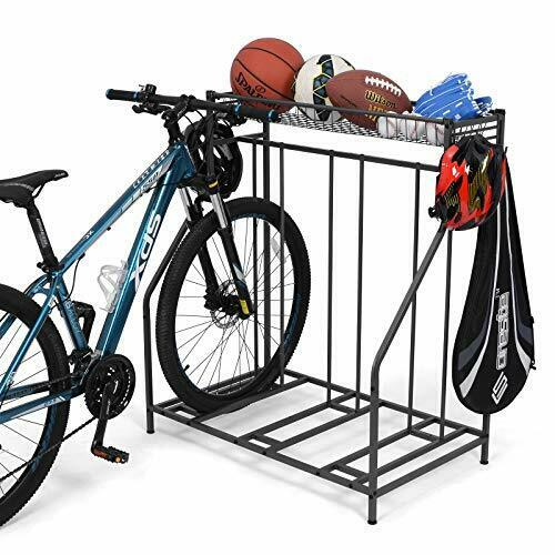 Bike Stand Rack 3 Bicycle Floor Parking Stand Bike Rack for Garage Storage GBP 88.99