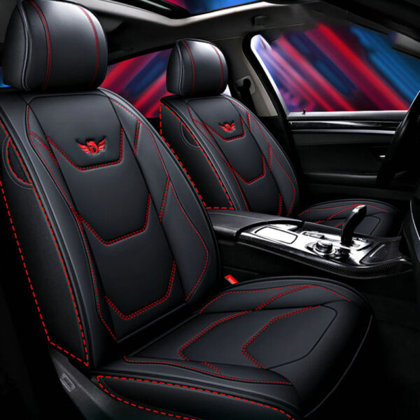 Leather 5 Seats SUV Front amp; Rear Car Seat Cover Cushion Full Set For Honda CRV $97.99