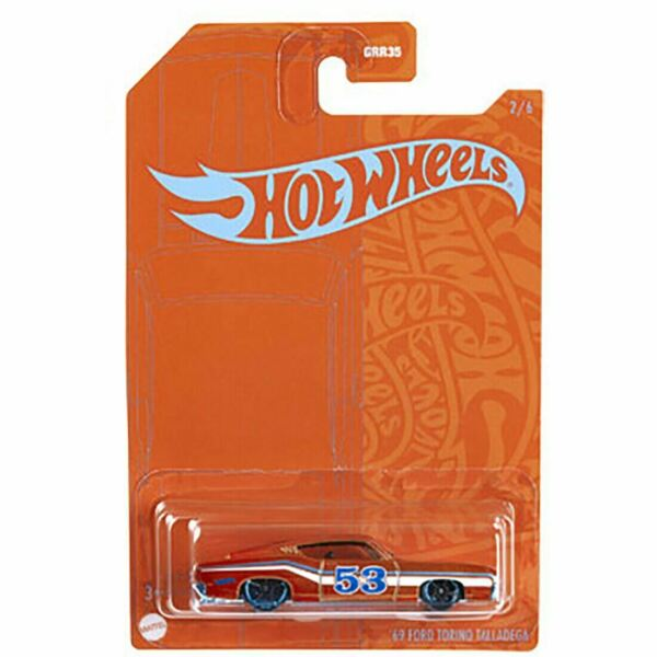 Hot Wheels #x27;69 Ford Torino Talladega Blue and Satin Wave 2 Series #2 of 6 $8.99