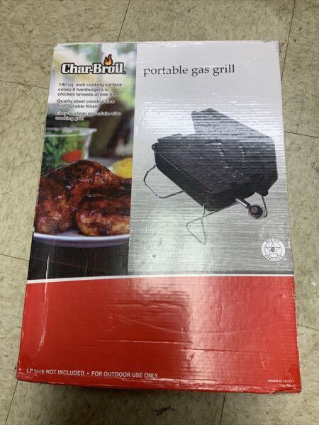 Char Broil Gas Grill 190 461111811 Table Top Tailgate Camp NEW NEVER USED