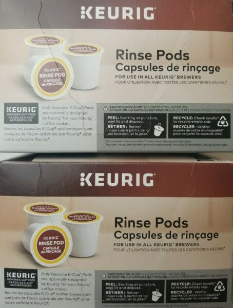 Keurig Rinse Pods 10 Pack White For use in all Keurig Hot Brewers Lot of 2