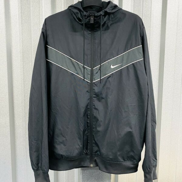 Rare Men's NIKE Striker Pass Woven Hooded Track Jacket Size UK Large *VGC*
