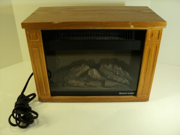 Heat Surge Mobile Electric Heater Glo Fireplace Heater. Works Great. $37.95